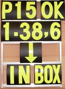 Pitbord losse set cijfers GP